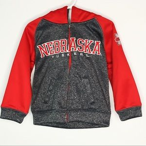 Nebraska Huskers Knights Apparel Zip Up Hoodie 2T